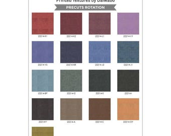 """Texture Illusion - Charm Pack (42) 5"""" squares - Maywood Studio - Daiwabo - Textured Look Quilt Fabric"""
