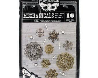 Prima Marketing Vintage Snowflakes -  Steampunk Embellishments - 964399