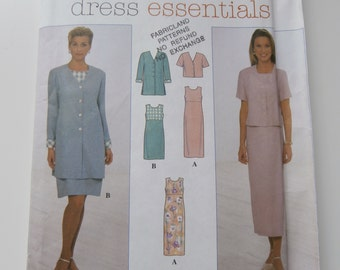 SIMPLICITY 7965 DRESS ESSENTIALS Tops Dress Jacket Sewing Pattern, Size 14 16 18, Bust 36 38 40, Separates, Wardrobe Builder.