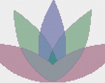 Lotus Cross-Stitch Pattern