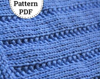 KNITTING PATTERN-Towering Trees, Dishcloth Pattern