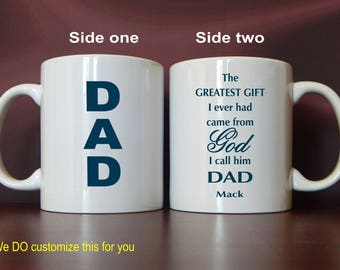 Christian Gift for Dad - Mug Gifts for Daddy -Personalized Gift from Son - Daughter, MDA011