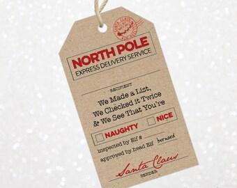 christmas santa gift tags printable santa gift tags