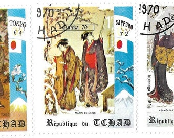 Chad mi # 404-6 set of 3 japanese art