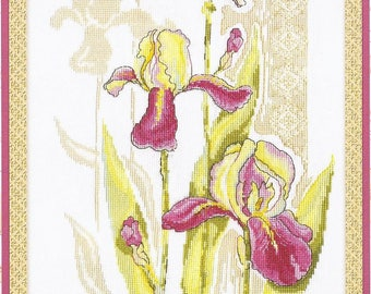 Counted Cross Stitch Kit The Blooms of our Gardens. Nostalgia C-0787