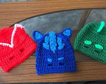 Pj Masks Inspired Owlette Crochet Hat Pattern