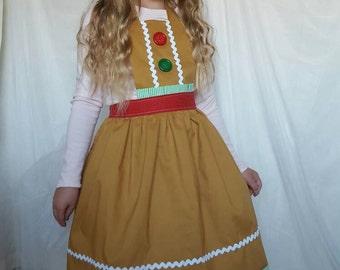Christmas Gingerbread dress up apron