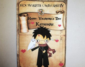 Wizards - Harry Potter - VALENTINES DaY CARDS - Valentines - Custom - One of a Kind - Personalized - Set of 24 - VC 675