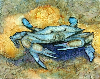Bright Blue Crab
