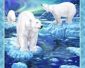 Quilting Treasures - Northern Lights by Liz Dillon - Polar Bear Panel