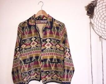 VTG 1980s Indian Kilim Jacket