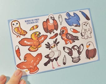Birds of Prey Sticker Sheets