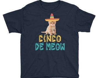 Cinco de meow - Meow shirt - cinco de mayo - cinco de mayo shirt - meow - cinco de mayo party - cinco de mayo tshirt - meow shirt kids