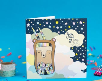 You Are My Little Bear - Greeting Card