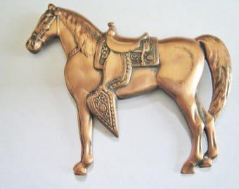 Copper Horse Pin