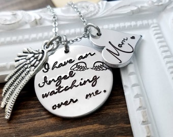 I Have An Angel Watching Over Me - Memorial Necklace - In Memory Of Loved One - Loss of Loved One - Remembrance Keepsake
