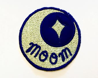 Moom Crescent Moon Embroidered Sew-on Patch