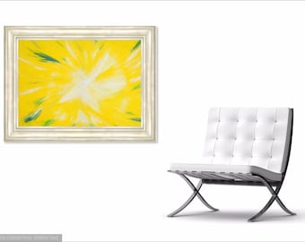 ANGEL - Abstract Art Print on Canvas - Digital Art - Cross Pattern - Fine Art Print - Angel Art Print - Decorative Wall Art