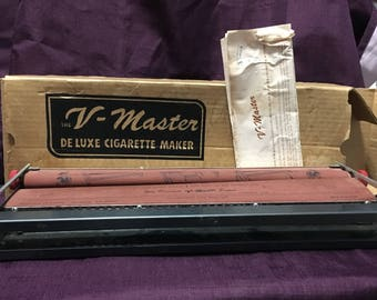 Vintage V-Master Deluxe Cigarette Rolling Machine 1950s V Master With Box & Instructions - USA Shipping is on Us at Everything Vintage!