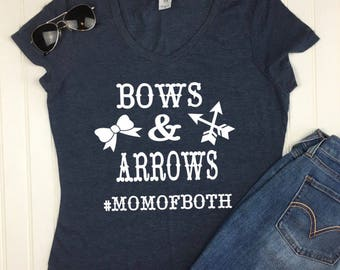 Bows and Arrows #MomofBoth Shirt, mom shirt, mom gift, mom Christmas gift, wife gift, Mothers Day gift, new mom shirt, mom tshirt, mom tee