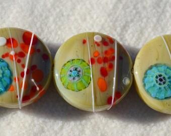 Artisan Lamp Work Beads- Lot 8