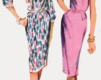 1960 Womens MadMen Wiggle Dress Pattern Advance 3456 Vintage 60s Sewing Pattern Size 18.5 UNCUT