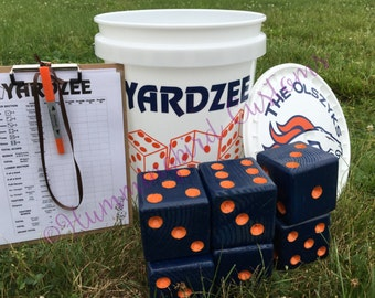 Yardzee, Farkle, Lawn Dice, Yard Game, Yard dice, Lawn Game, Christmas gift, Outdoor Wedding, family game, outdoor game, Family fun, Team