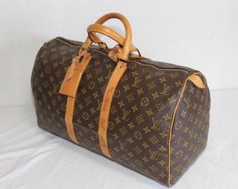 Authentic LOUIS VUITTON Monogram Keepall 45 Carry-On Travel bag  - (ref 5380)