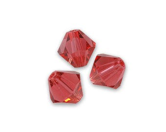 10 bicone 6 mm padparadscha Swarovski Crystal bead