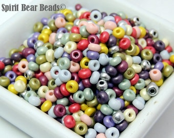 Spring Matte Pastel Mix multicolor Czech Glass seed bead mix size 6