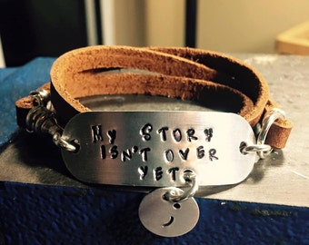 My story isn't over yet triple wrap bracelet