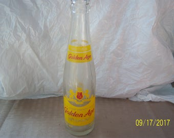 1953 Golden Age Youngstown Ohio 7 oz Clear ACL Soda