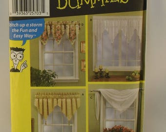 Simplicity Pattern 7164 Sewing Patterns for Dummies Window Treatments 4 Valance Designs Shawl Valance Design