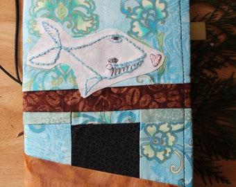 13 WHALE TALE - Fabric Traveler's Notebook Cover