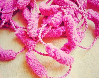 Sugar Plum Eclaire Pom Pom Garland Trim- Party decoration, novelty trimming, doll and miniature making, sewing supply- 3 yds