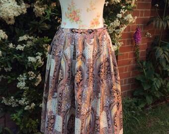 1960's,70's Vintage Novelty Print Skirt