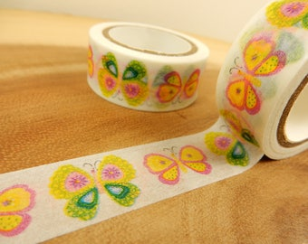 Butterfly Washi Tape, Butterflies Japanese Tape, Cardmaking Tape, Wedding Invite Decoration