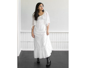 70s Head in the Clouds Maxi Dress / Extra Small-Small