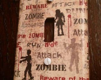Zombies Switchplate Covers, Zombie Apocalypse Light Switch Cover, NerdNeeds, Nerd Decor, Nerd Gifts, Mancave, Zombie Light Switch Cover
