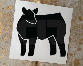 Show Cattle Steer Vinyl Sticker - Option 3