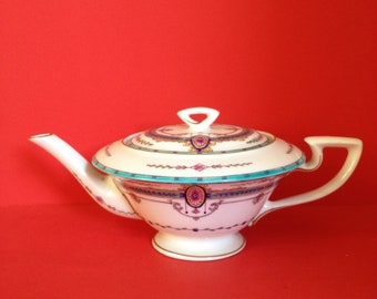 Royal Worcester Unusual Two-Cup Teapot, Aesthetic Movement, c. 1913