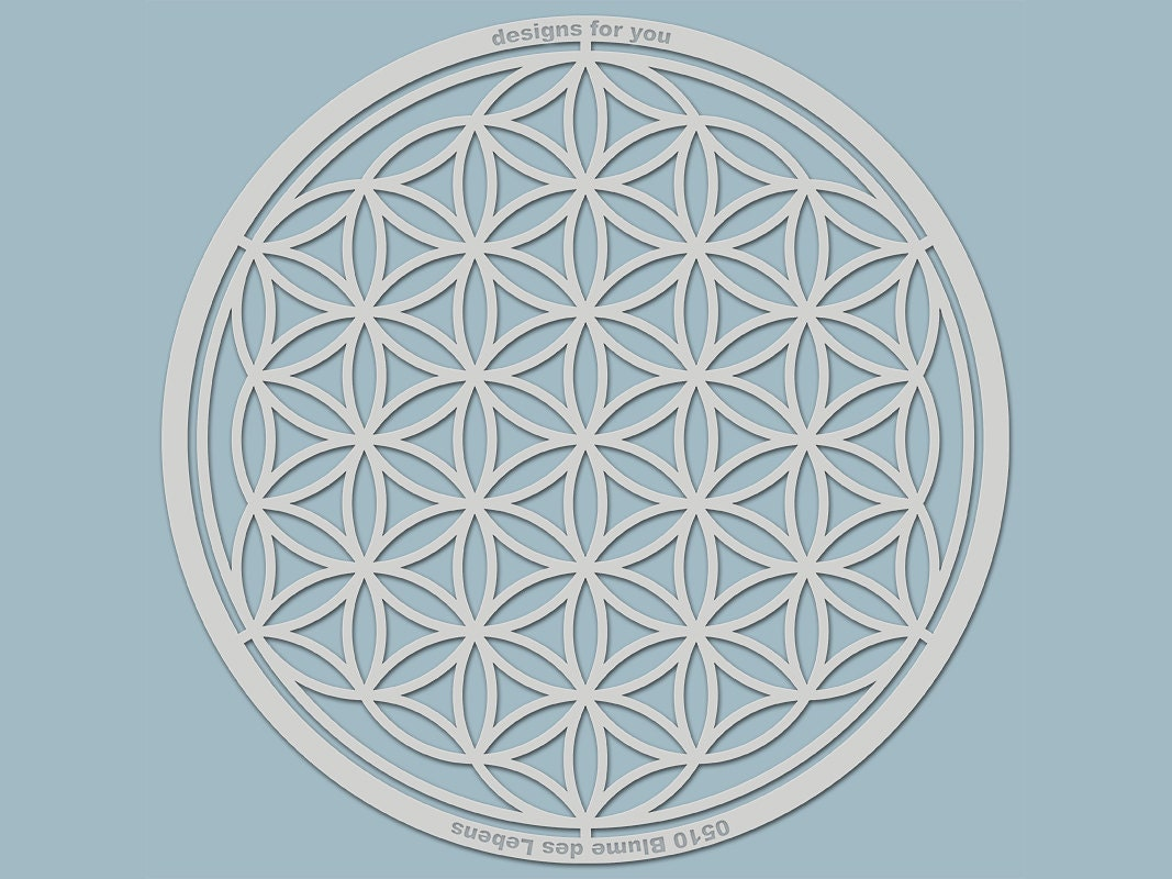 Template 0510 Flower of Life silhouette for e.g.