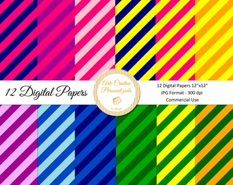 Digital Diagonal Stripes