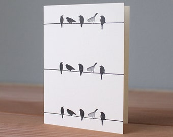Handmade Birds-on-a-Wire Card