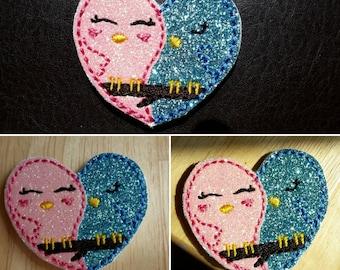 Love Birds Paper Clip