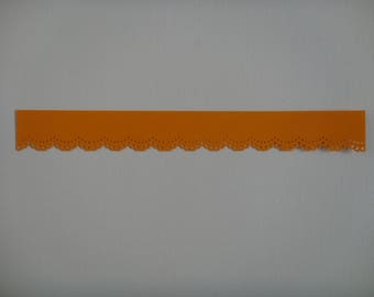 Cutting edge lace for creating light orange drawing paper