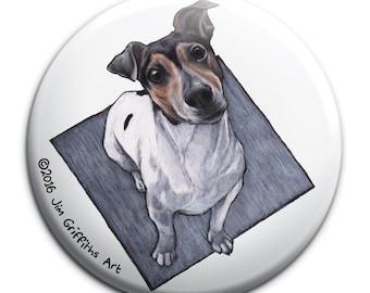 Jack Russell Terrier pocket mirror, Jack Russell Terrier mirror, stocking filler , handbag mirror, gift for Jack Russell Terrier lovers