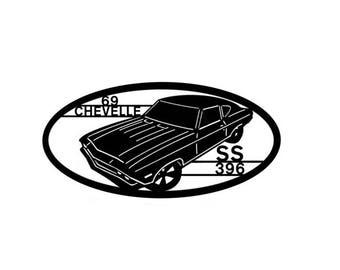 1969 Chevelle Wall Art Metal Art  Home Decor  Car Art  Automobile Art Classic Auto SS 396 car collectors  , Makes a GREAT gift!