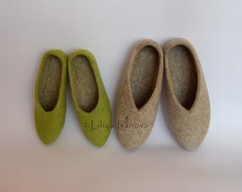 Felted slippers, handmade slippers, slippers for women
