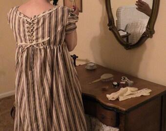 Striped Regency Gown